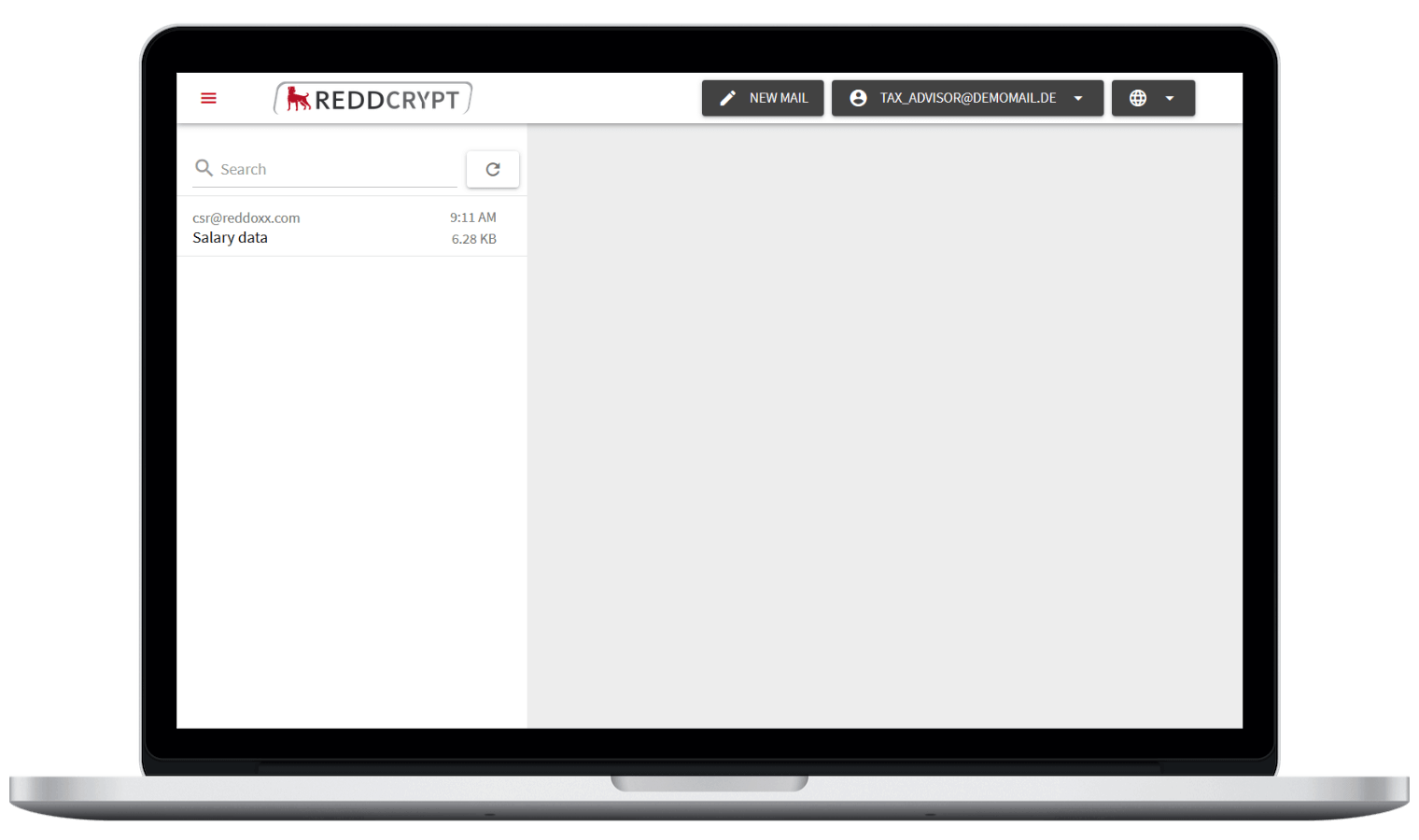 After a free registration the recipient can access your encrypted e-mail
