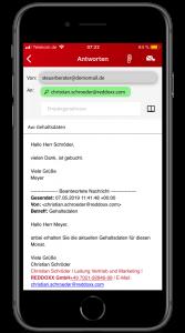Über den Editor kann die E-Mail formatiert werden, auch Anhänge können Sie hinzufügen