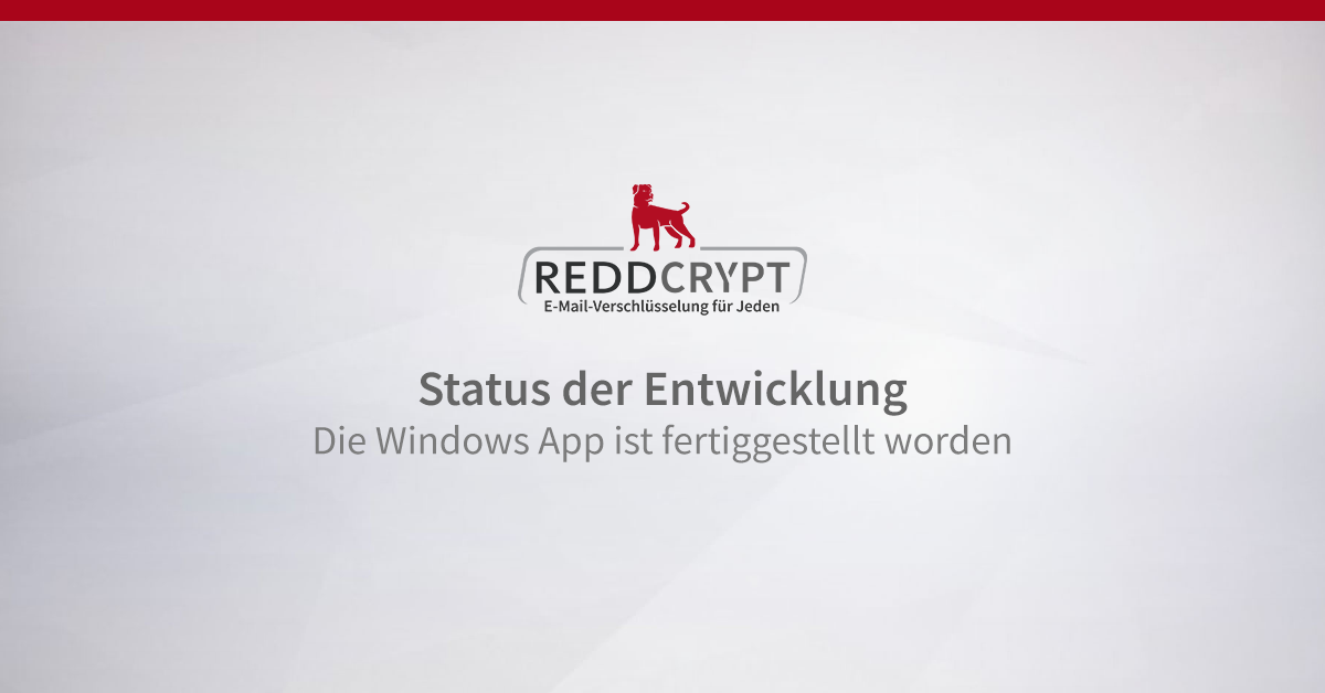 Die Windows App ist fertiggestellt worden