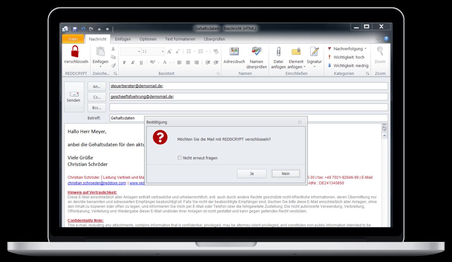E-Mail in Outlook verschlüsseln - mit einem Klick