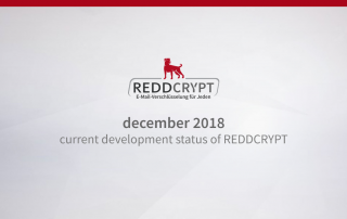 Dec 2018: Current development status of REDDCRYPT