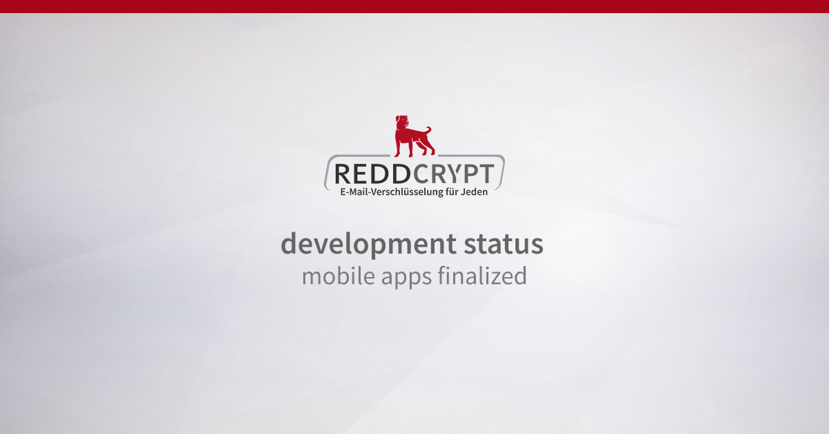 REDDCRYPT development status: smartphone apps ready