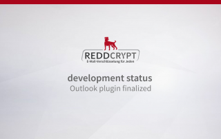REDDCRYPT development status: Outlook plugin finalized