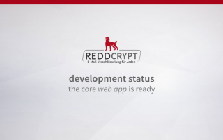 REDDCRYPT development status: the core web app is ready