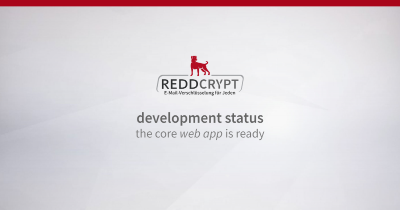 REDDCRYPT development status: the core web app is ready