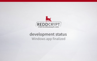 REDDCRYPT development status: the Windows app is ready