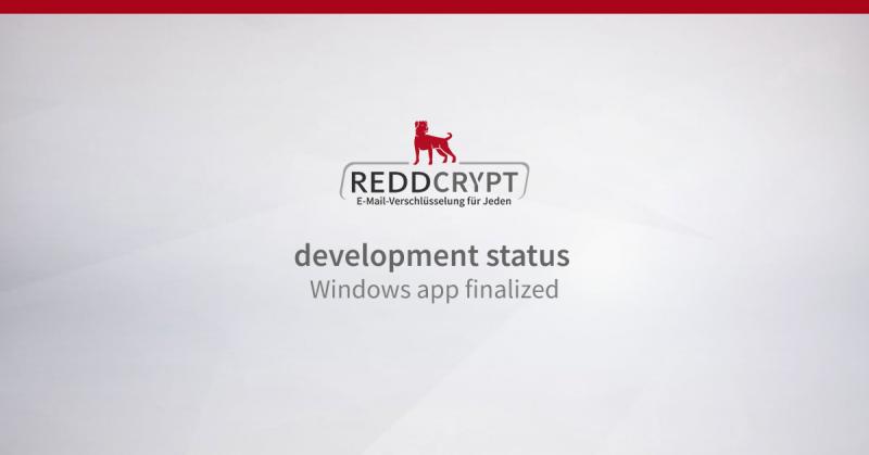 REDDCRYPT development status: the Windows app is ready