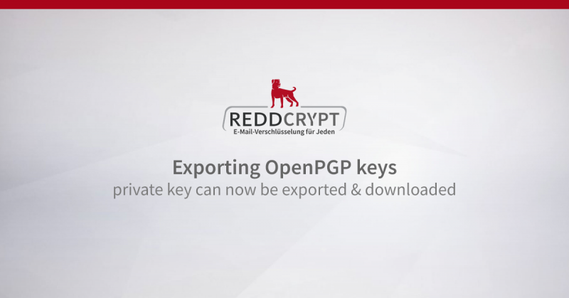 Exporting OpenPGP keys: one's private key can now be exported and downloaded