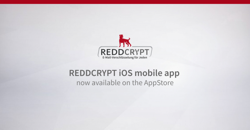 REDDCRYPT mobile app now available on the AppStore