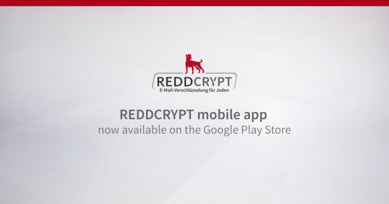 REDDCRYPT mobile app now available on the Google Play Store