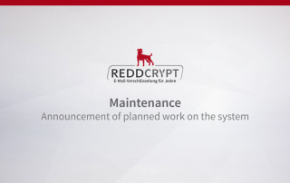 Planned maintenance work on the REDDCRYPT system